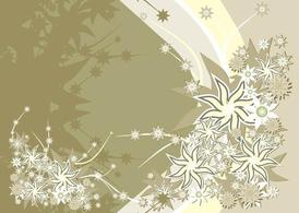 Background Template With Flowers Design