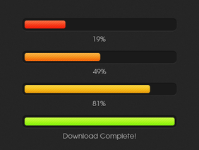 Color Changing Download Progress Bar
