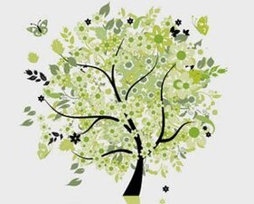 Stock Illustrations tree-butterflies