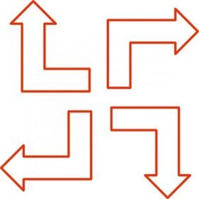 L Shaped Arrow Set
