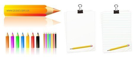 A blank paper, color pencil box