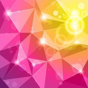 Vektor Crystal Abstract Background