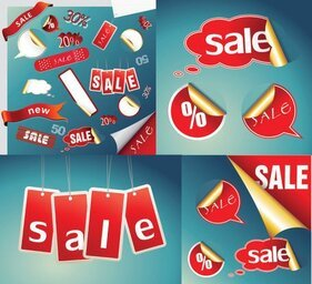 Practical sales discount icon