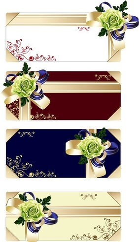 Flower Ribbon Gift Card