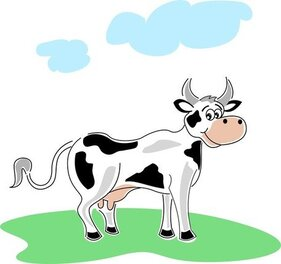 Illustration de vache