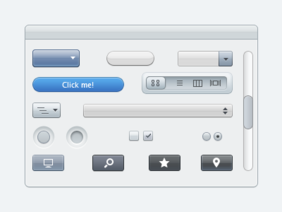 Apple Stil UI-Elemente