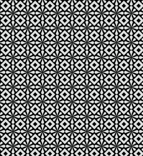 Eenvoudige gratis Abstract Black And White Pattern