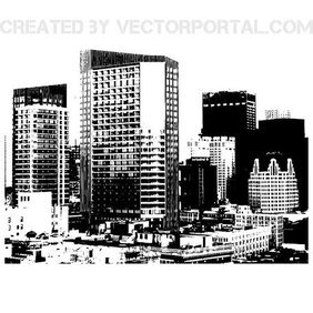 CITY SKYLINE MONOCHROME VECTOR.eps