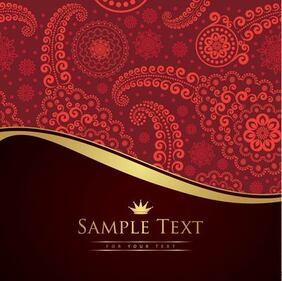 Vintage Paisley Pattern Cutting Edge Background