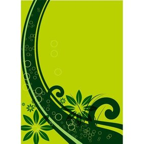 GREEN FLORAL VECTOR BACKGROUND.ai