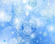 Christmas ball background with snowflakes ornaments