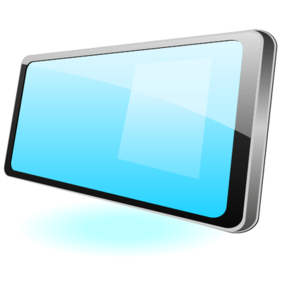 Plat glanzende Tablet PC Mockup