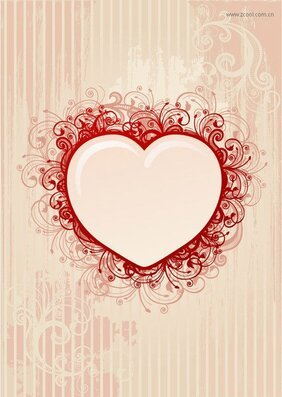 Retro style heart-shaped pattern