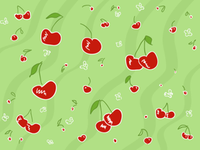 Cherry Pattern Vector Free