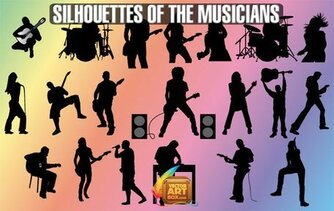 Free Vector Musicians Silhouettes