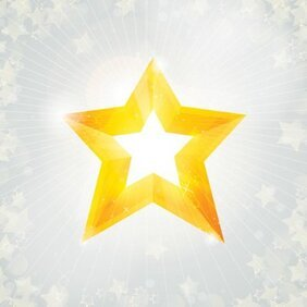 Christmas Star on Sunlight Background