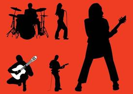 Rockband Silhouettes Graphics