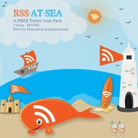 RSS At Sea - Orange Vectors With A Nautical Twist