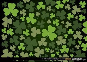 Fundo de trevo do St Patrick