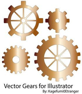 Vector Gears Illustrator