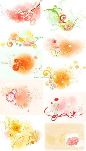 Exquisite floral series vector material - Part 2 Series (10P
