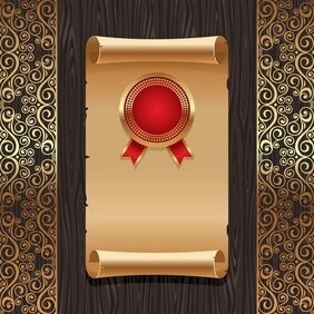 Golden Background Pattern