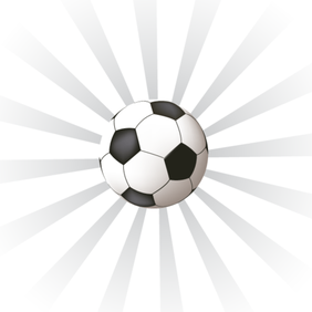 Sunburst Background with Soccer Ball