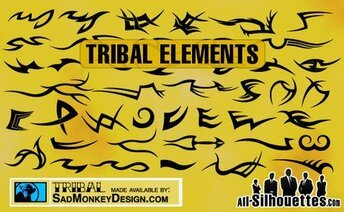 43 tribal Tattoo elementen