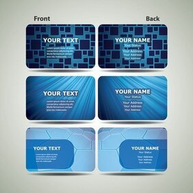 Blue Technology Business Card Template 02