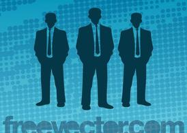 Vector Businessmen Silhouettes