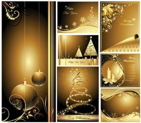 Beautiful gold Christmas card