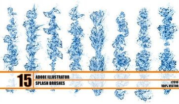 Hydronix - Free Water Splash Brushes Illustrator