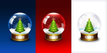 Christmas snow globe icon (PSD)