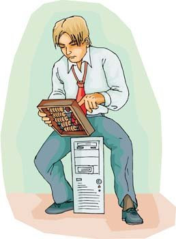 Men and computer vector 6