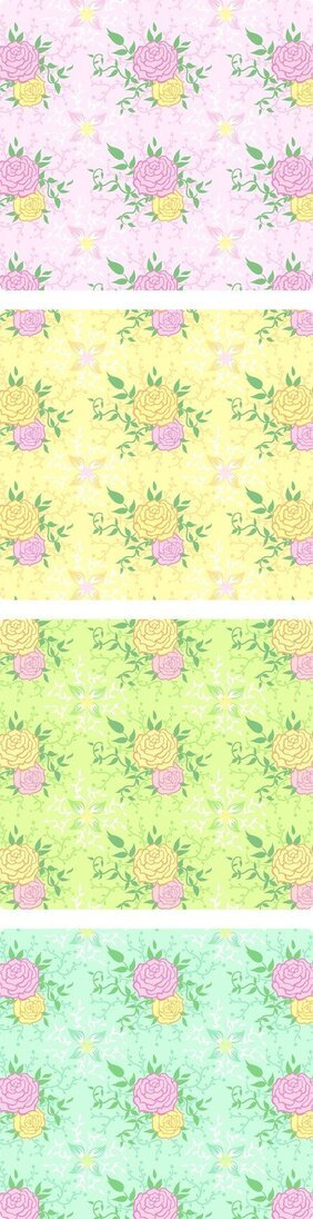 Peony Tiled Background