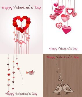Cute romantic Valentine's Day cards