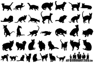 Free Vector Cats Silhouettes
