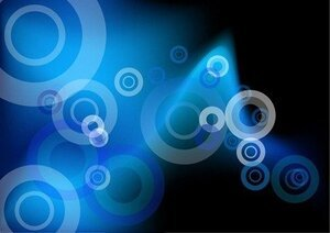 Abstract Blue Circles