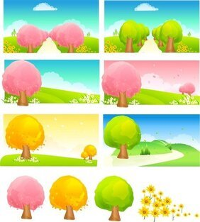 Seasonal Changes Of Trees