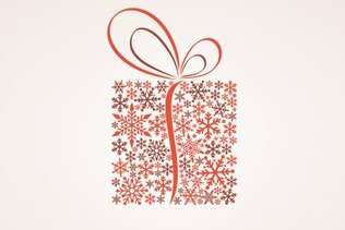 Christmas Gift Box Vector Illustration (Free)