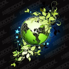 Green leaves the Earth