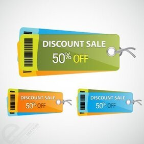Free vector colorful discount tag