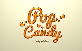 Psd Candy Text Effect