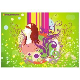 SPRING GIRL VECTOR ILLUSTRATION.eps