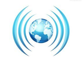 Worldwide broadcasting icon (PSD)