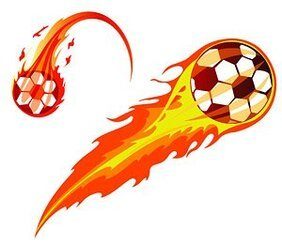 2 cool vector flame football material