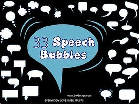 A variety of elements in the dialogue bubbles vector materia
