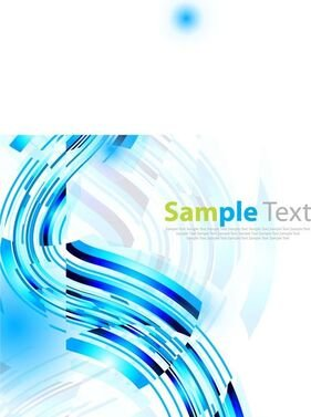 Abstract Blue Vector Art Background