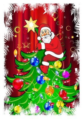 Cartoon Santa Claus background