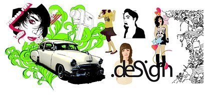 People with the trend vector graffiti background material